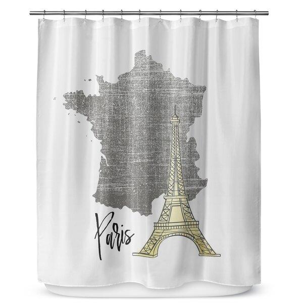 Paris 90 Shower Curtain by KAVKA DESIGNS