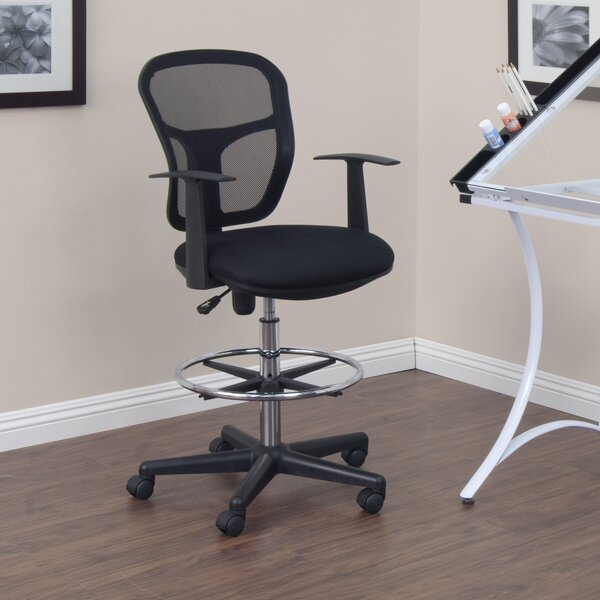 Ninth Avenue Mesh Drafting Chair by Wrought Studio