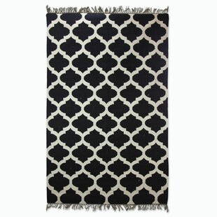 Best Choices Hand-Woven Black/White Area Rug By Novica