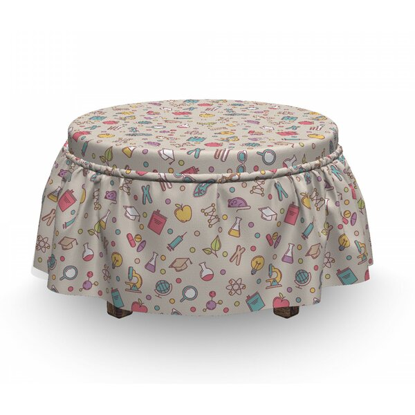 Science Research Tools Ottoman Slipcover (Set Of 2) By East Urban Home