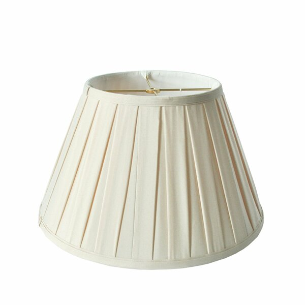 Round Box Pleat 16 Linen Empire Lamp Shade by Darby Home Co