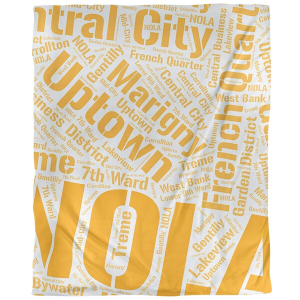 New Orleans Louisiana Districts Single Reversible Duvet Cover