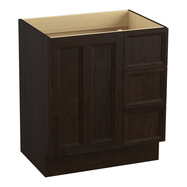 Damask™ 30 Vanity with Toe Kick, 1 Door and 3 Drawers on Right by Kohler