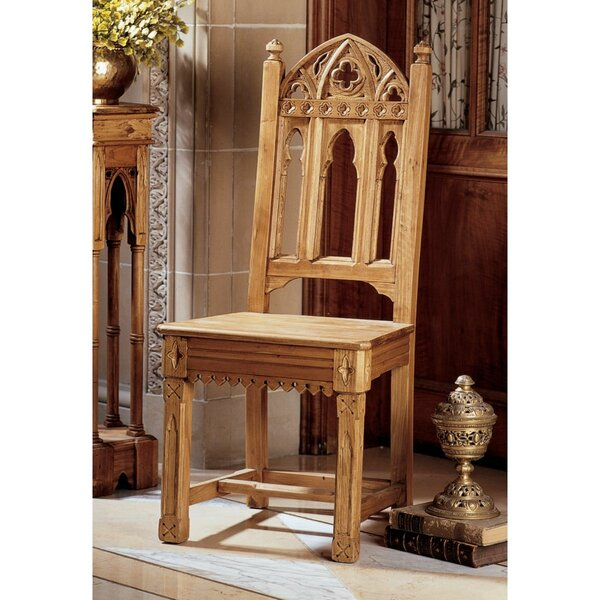 Sudbury Pine Gothic Solid Wood Dining Chair by Design Toscano Design Toscano