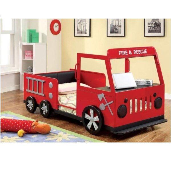 Pilkington Fire and Rescuer Twin Car Bed by Zoomie Kids