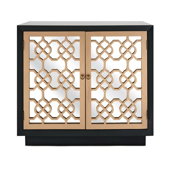 Landis Spacious Mirrored 2 Door Accent Cabinet by Rosdorf Park