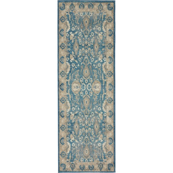 Basswood Light Blue Area Rug by Alcott Hill