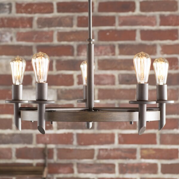 Holladay 5-Light Candle Style Wagon Wheel Chandelier By Trent Austin Design