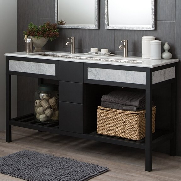 Cuzco 61 Carrara Vanity Set by Native Trails, Inc.