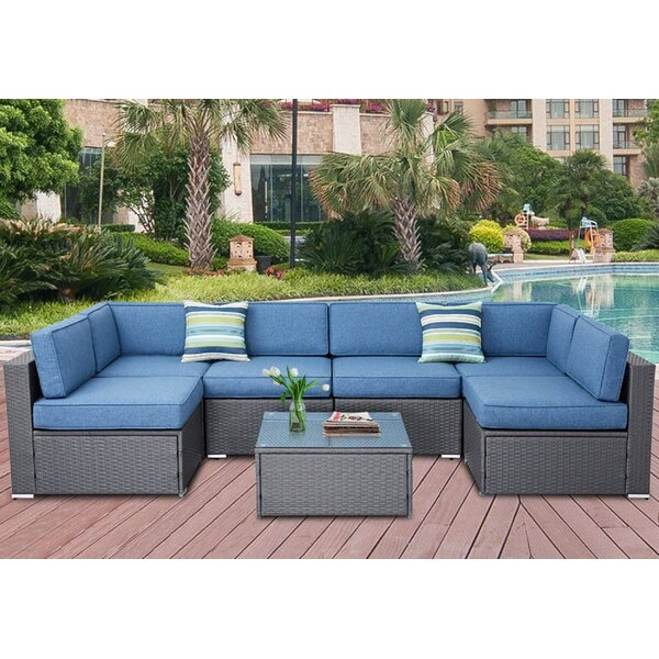 Parkchester 7 Piece Sectional Seating Group with Cushions by Highland Dunes Highland Dunes
