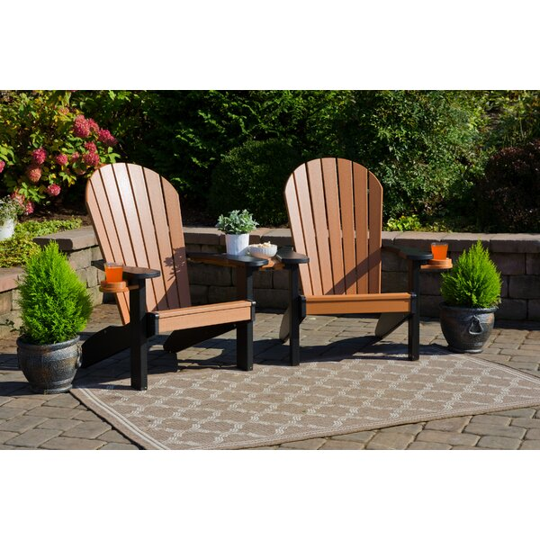 Kellum Plastic Adirondack Chair (Set of 2) by Bayou Breeze