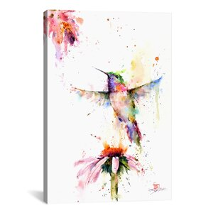 Between the Flowers Painting Print on Wrapped Canvas by Latitude Run