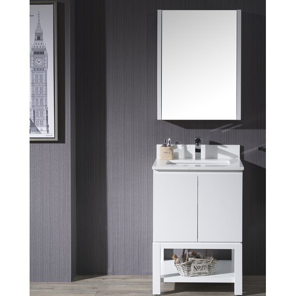 Maly 24 Single Bathroom Vanity Set with Mirror by Orren Ellis