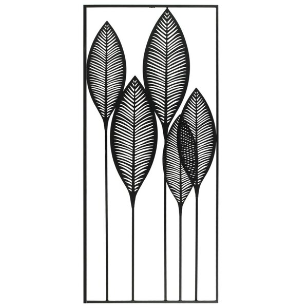 Veined Leaves Metal Wall Décor by Bay Isle Home