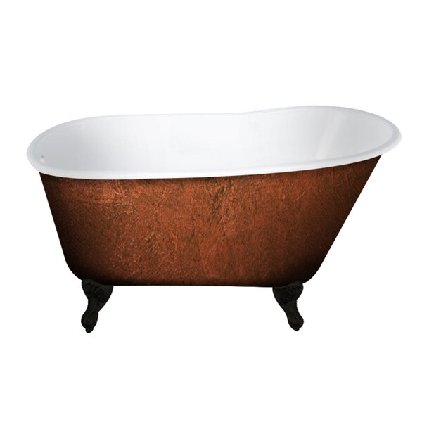 Cast Iron Clawfoot 54 x 30 Freestanding Soaking Bathtub by Cambridge Plumbing