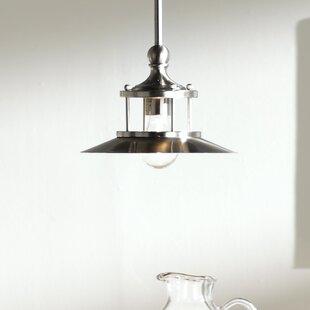 Online Reviews Longview 1-Light Cone Pendant By Beachcrest Home
