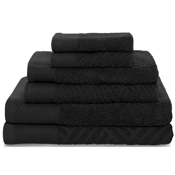 West Side 6 Piece Egyptian-Quality Cotton Towel Set by Zipcode Design
