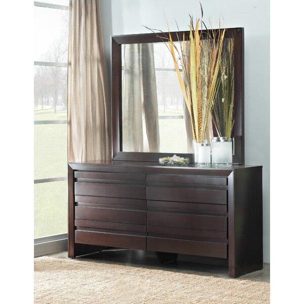 Fierro 6 Drawer Dresser with Mirror by World Menagerie