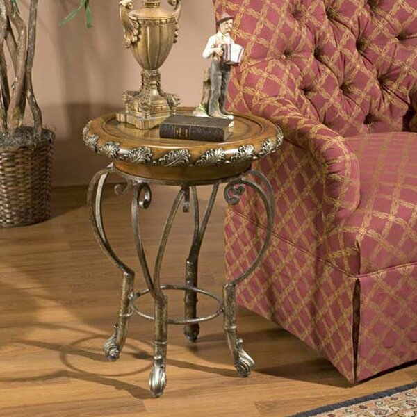 Christopher Metal End Table by Fleur De Lis Living