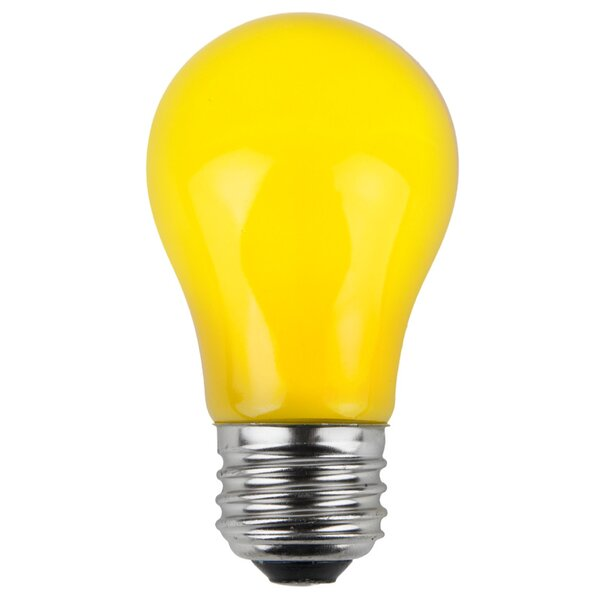 15W Yellow 130-Volt Light Bulb (Pack of 25) by Wintergreen Lighting