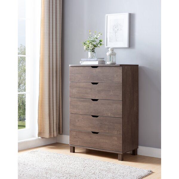 Felten 5 Drawer Chest by Union Rustic
