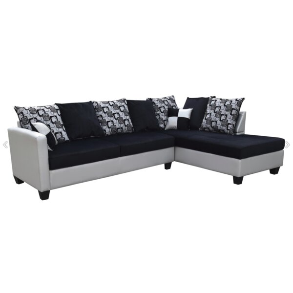 Noyola Pillow Back Sectional by Ebern Designs