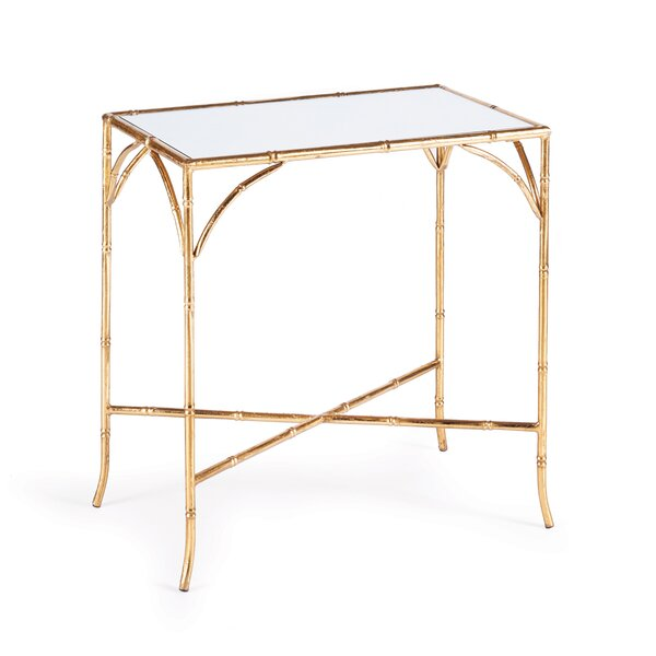 Jaoquim Glass Top End Table By Mercer41