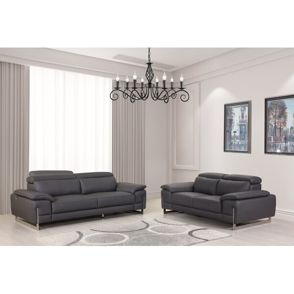 Amatury 2 Piece Leather Living Room Set by Orren Ellis