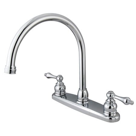 Vintage Double Handle Kitchen Faucet by Kingston Brass