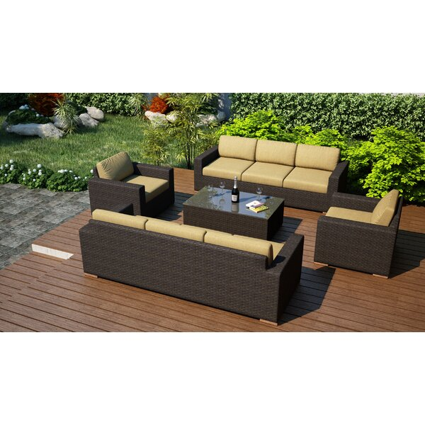 Hodge 5 Piece Sofa Set with Cushions by Rosecliff Heights