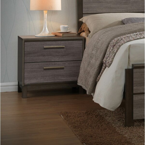 Leddy 2 Drawer Nightstand by Gracie Oaks