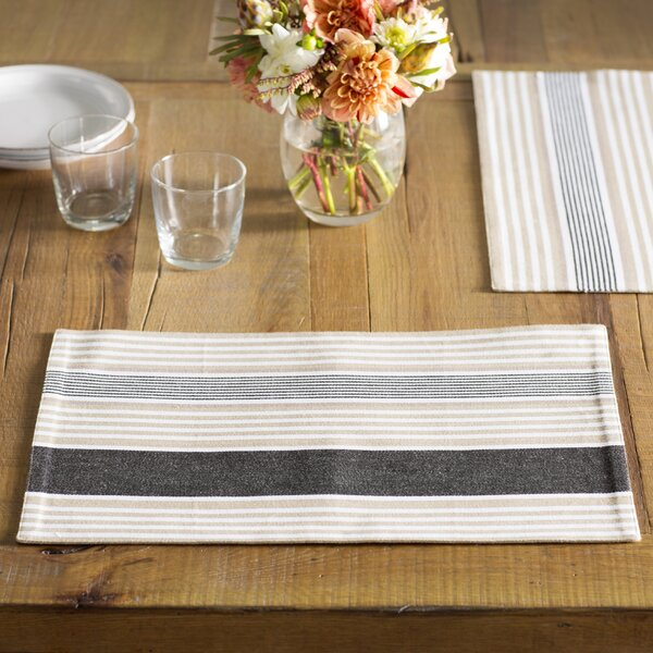 Strattanville Stripes Placemats (Set of 4) by Andover Mills