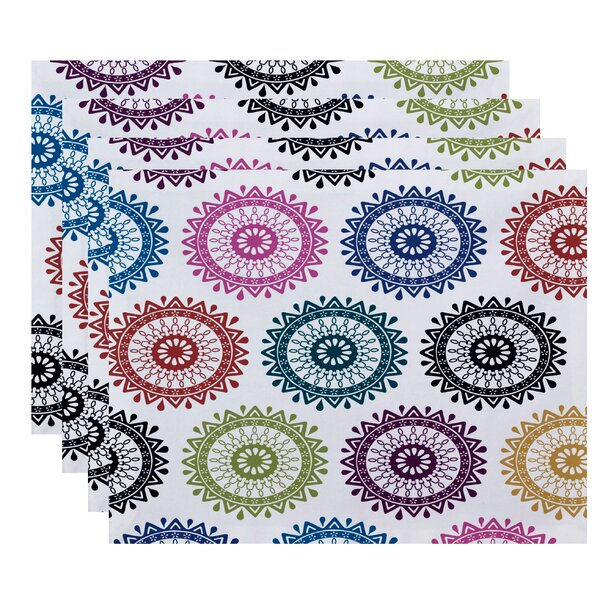 Meetinghouse Groovy Geometric Print Placemat (Set of 4) by Bungalow Rose