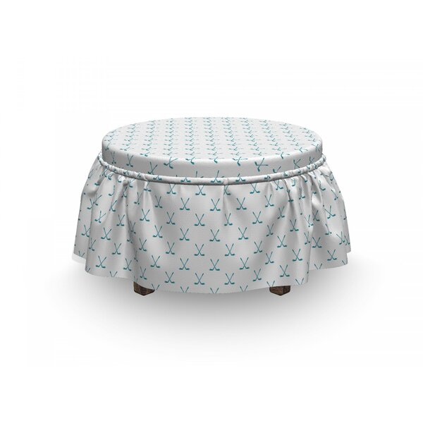 Clubs Sticks Graphic Ottoman Slipcover (Set Of 2) By East Urban Home