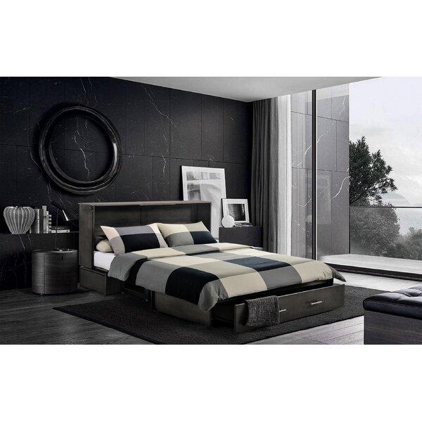 Hague Seaside Queen Storage Murphy Bed with Mattress by Brayden Studio