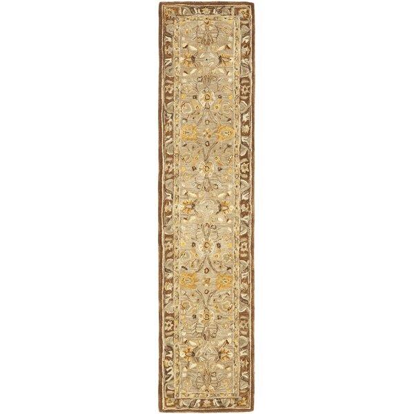 Anatolia Hand-Woven Wool Dark Gray/Brown Area Rug by Safavieh