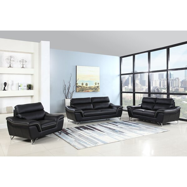 Hawks Upholstery 3 Piece Living Room Set by Orren Ellis