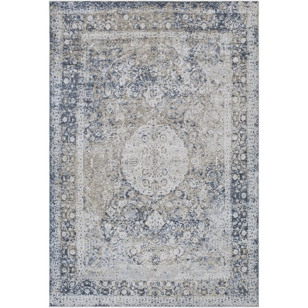 Pickney Distressed Gray/Charcoal Area Rug by One Allium Way