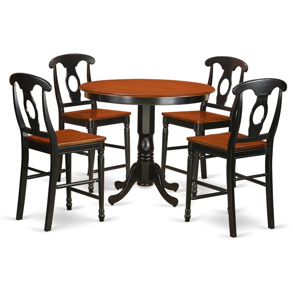 #1 Trenton 5 Piece Counter Height Pub Table Set By East West Furniture 2019 Sale