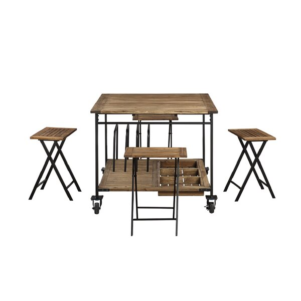 Sanni 5 Piece Counter Height Dining Set by Gracie Oaks