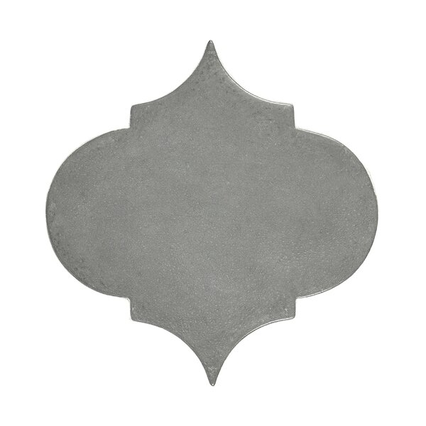 Urban Versaille Arabesque 5.4 x 5.4 Cement Mosaic Tile in Gray by Madrid Ceramics