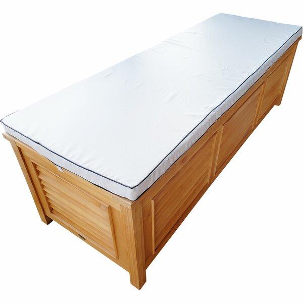 Teak Wood Manhattan Pool Box Indoor/Outdoor Bench Cushion