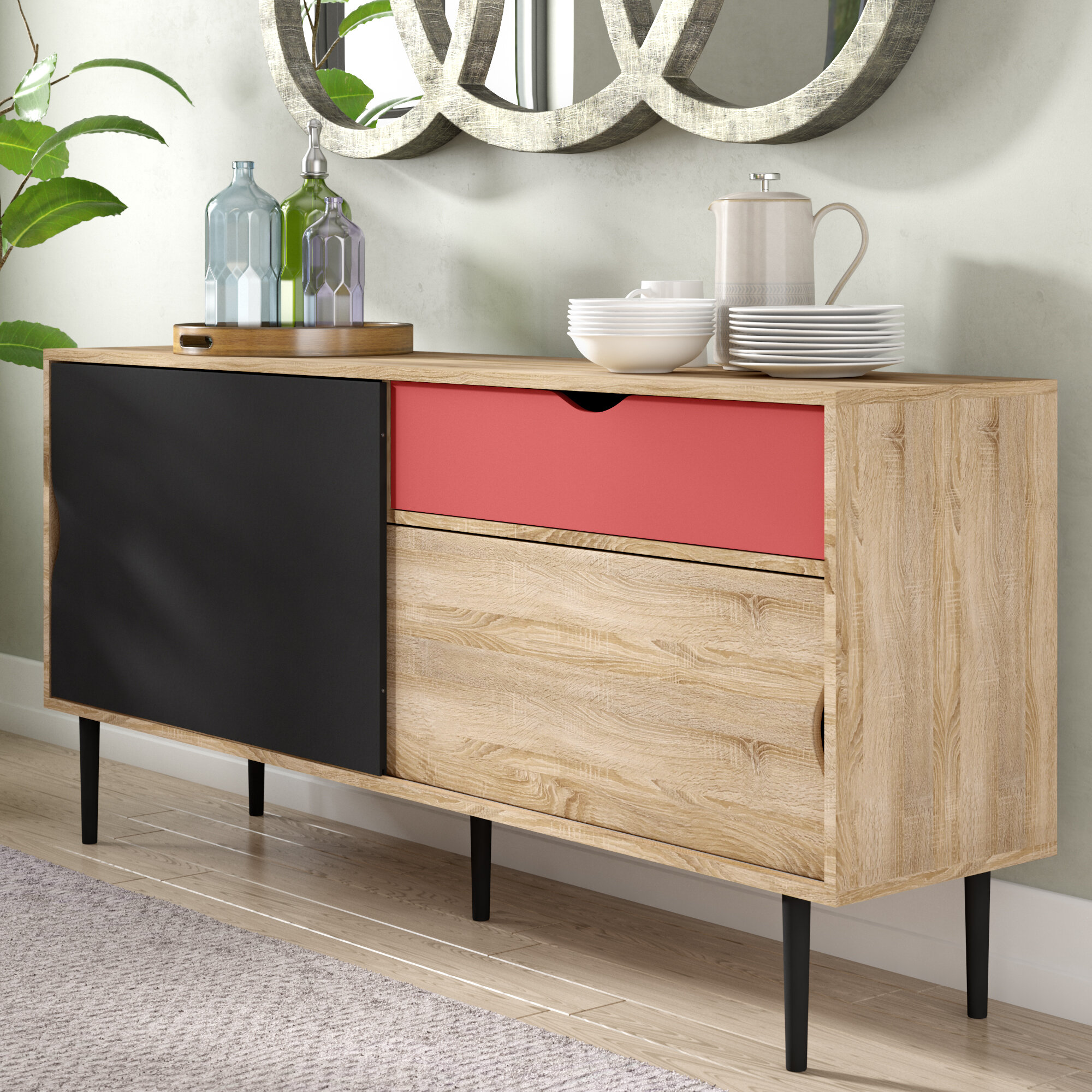 concave modern sideboard history brass grey gold buffet table