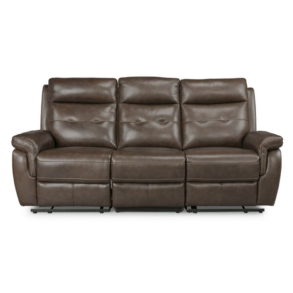 Sasheer Leather Reclining Sofa By Latitude Run