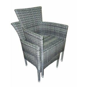 Grey Wicker Chairs grey rattan dining chairs | wayfair.co.uk