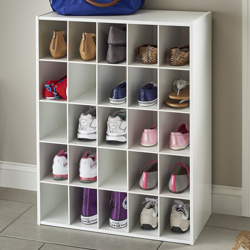 Closetmaid 25 pair shoe rack reviews wayfair for Rack room kids shoes