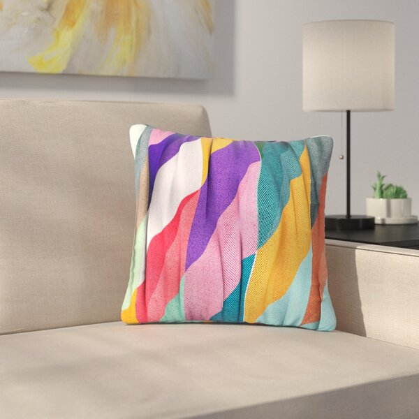 Danny Ivan Timeless Texture Stripes Multicolor Outdoor Throw Pillow by East Urban Home
