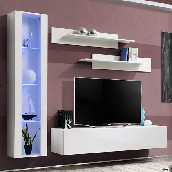 Wabasso Floating Entertainment Center For TVs Up To 88