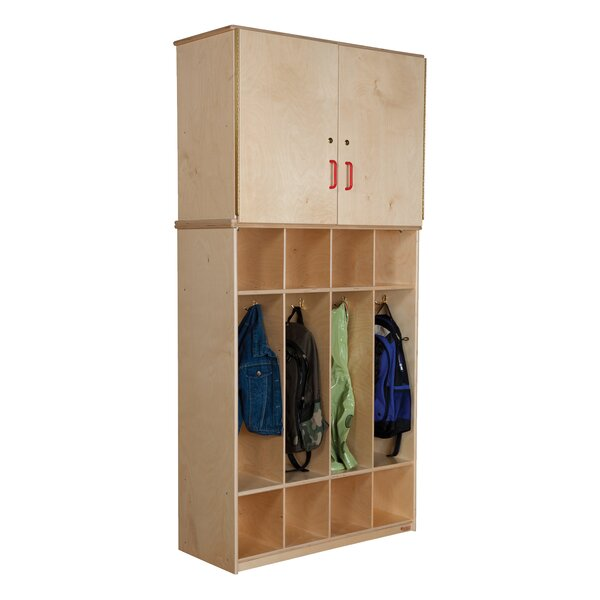 4 Tier 4 Wide Coat Locker by Wood Designs