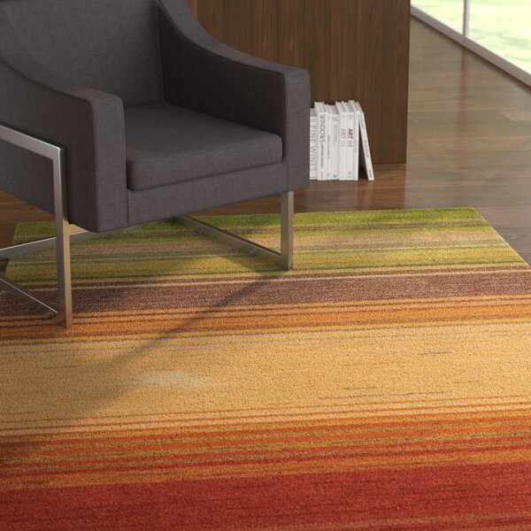 Gemini Hand-Tufted Green/Beige/Red Area Rug by Latitude Run